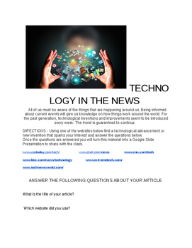 Technology in the News