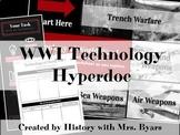 Technology of World War I Google Slides Hyperdoc Style Lesson and Worksheet