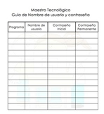 Techy Teacher At-A-Glance Username and Password Page Spanish