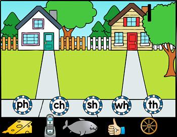 Kindergarten Google Classroom - Blends and Digraphs Bundle