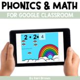 Kindergarten Google Classroom Digital Centers Growing Bundle