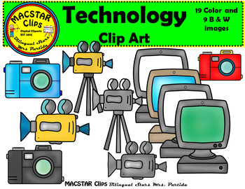 Tecnology Computer Clipart Bilingual Stars Mrs. Partida Clips