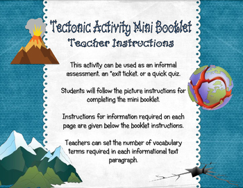Tectonic Activity Mini Booklet