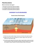 Tectonic Plate Boundaries - Activity and Worksheet