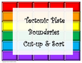 Tectonic Plate Boundaries Cut-Up and Sort