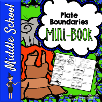Tectonic Plate Boundaries Mini Book With Notes