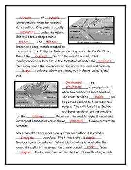 Tectonic Plate Boundaries Note Taking Guide