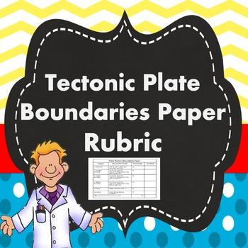 Tectonic Plate Boundaries Paper Rubric