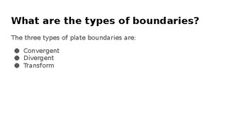 Tectonic Plate Boundaries PowerPoint Lesson
