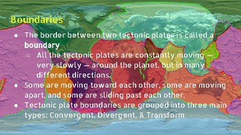 Tectonic Plate Boundary Notes