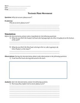 Tectonic Plate Movement and Convection Currents