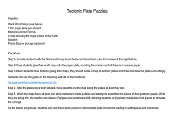 Tectonic Plate Puzzles