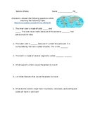 Tectonic Plates Guided Video Worksheet