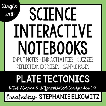 Plate Tectonics Interactive Notebook Unit