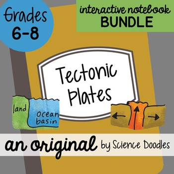 Tectonic plate teaching resources teachers pay teachers doodle notes tectonic plates interactive notebook bundle fandeluxe Choice Image