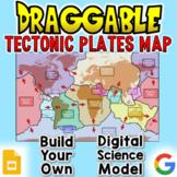 Tectonic Plates Map: Digital Draggable Science Model
