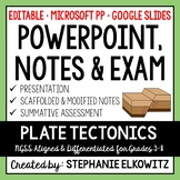 Plate Tectonics PowerPoint, Notes and Exam