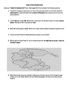 Tectonic Plates Reading Guide