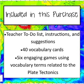 Tectonic Plates Vocabulary Review Games