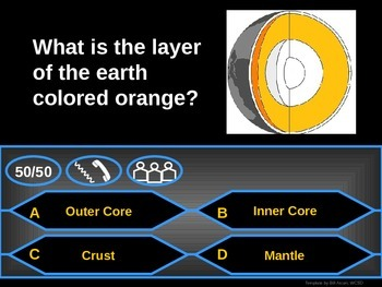 Tectonic Plates - Who Wants to be a Millionaire Review Game