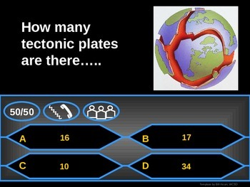 Tectonic Plates - Who wants to be a millionaire Review