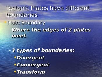 Tectonic Plates and their Boundaries