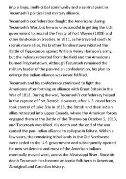 Tecumseh Handout