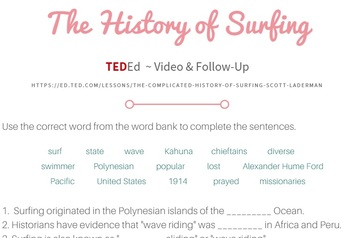 Ted Ed - History of Surfing Worksheet