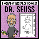 Ted Geisel (Dr. Seuss) Biography Research Booklet