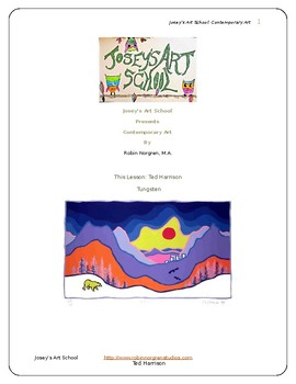 Ted Harrison Art Lesson Chalk Pastels Grades Pre-k to 6 Art History Project