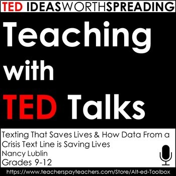TED Talks Lesson (Texting That Saves Lives)