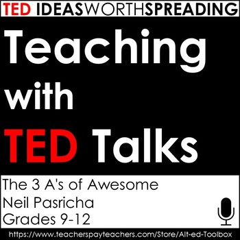 TED Talk Lesson (The 3 A's of Awesome)