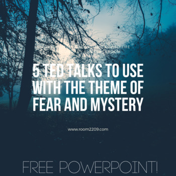 Ted Talks with the Theme of Fear and Mystery PowerPoint