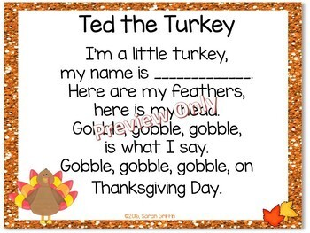 Build a Poem ~ Ted the Turkey