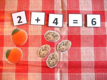 Teddies Picnic Counting Game. Colorful Numbers Numeracy Maths. ABA SEN