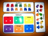 Teddies and Objects Colors Game. Great Autism Aspergers ABA Resource. ASD SEN