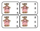 Teddy Bear Addition Clip Cards