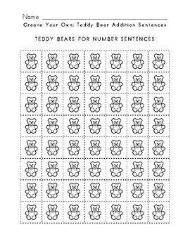 Teddy Bear Addition Packet