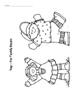 Teddy Bear Addition Story Mat