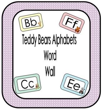 Teddy Bear Alphabet Word Wall