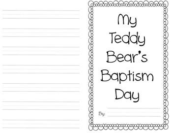 Teddy Bear Baptism - Baptism Activity for First Grade