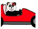 Teddy Bear Boy Girl Indy Race Car Clipart