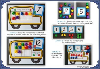Teddy Bear Bus - Counting Bear Mats & Numbers (0-20)