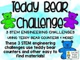 Teddy Bear Challenge - STEM Engineering Challenges, Pack of 3