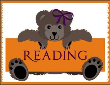 Teddy Bear Classroom Center Signs