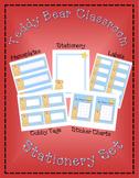 Teddy Bear Classroom Stationery Set