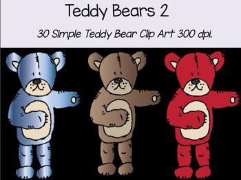 Teddy Bear Clip Art 2