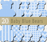 Teddy Bear Clip Art, Bear images, Digital clipart, Instant Download