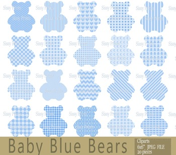 Teddy Bear Clip Art, Bear images, Digital clipart, Instant Download