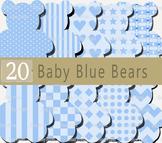 Teddy Bear Clip Art, Bear images, Digital clipart, Instant
